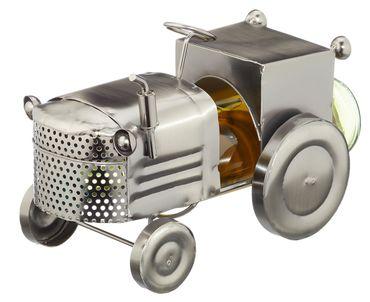 Flaschenhalter Weinflaschenhalter Traktor Trecker Metall Figur Skulptur Deko  – Bild 1