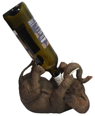 Flaschenhalter Weinflaschenhalter durstiger Elefant Figur Skulptur lustige Deko – Bild 1