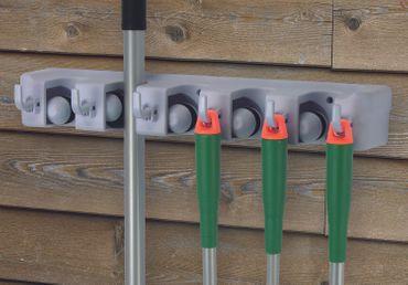 Garten-Gerätehalter Wandhalter für Gartenwerkzeug und Besenstiel Geräteleiste – Bild 1
