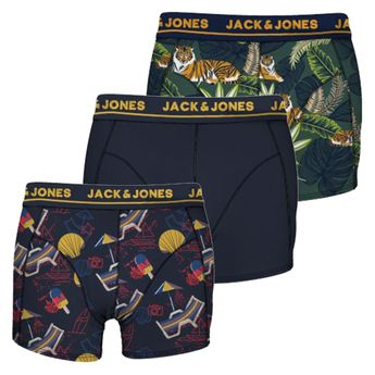 JACK & JONES - 3er Pack Herren Boxershorts JACLION Boxer Shorts in allen Größen