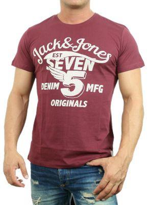 Größe:S;Modell Farbe:Raffa Tee Burgundy - Jack & Jones Herren T-Shirt