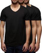 7007 3er Pack - Jack & Jones V-Neck Basic T-Shirt - 12059920