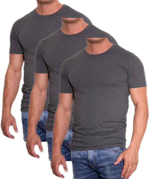 7108 Jack /& Jones Herren 3er Pack O-Neck Basic T-Shirt Rundhals Shirts kurzarm