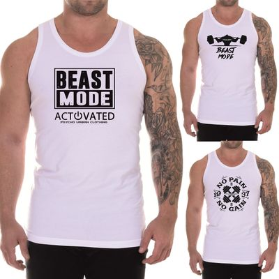 Motive 1-12:Motiv 1;Größe:S - 8947 Psycho Urban Clothing Tank Top