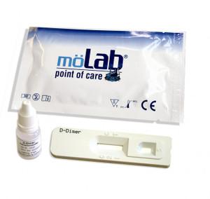 möLab D-Dimer Schnelltest zur Ausschlußdiagnostik von Thrombosen + Lungenembolien