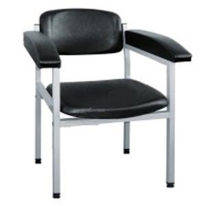 Blutentnahmestuhl, Stuhl zur Blutentnahme, schwarz