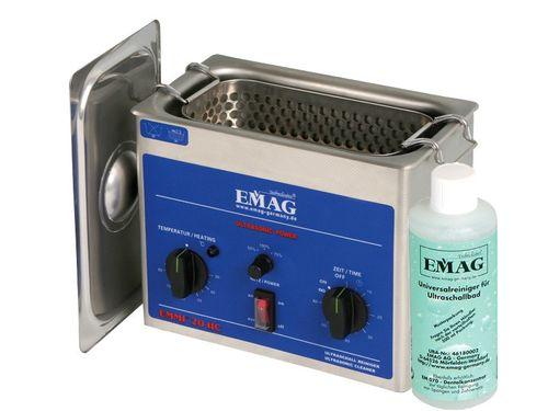EMMI 20 HC Ultraschallreiniger, 2000 ml Edelstahl, für Labor und Praxis + privat