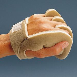 Rolyan* Handtellerschutz mit Einzelfingerlage, Universalgröße, linke Hand