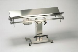 Veterinär OP Tisch 150 x 48 cm, Edelstahl, hydraulisch, Höhe 85 bis 115 cm TR/ATR