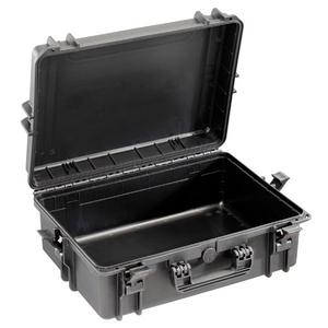 Notfallkoffer schwarz mittelgroß, leer, ABS Kunststoff, wasser- unf staubdicht