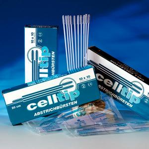 Celltip Abstrichbürste, 10 Stück, unsteril, Endocervical- bzw. Vaginalabstriche