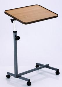 Pflegetisch, Beistelltisch, Betttisch, Bett-Tisch, Tischplatte in Holzoptik