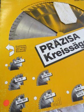Kreissägeblatt type WH Prätisa 184mm 2,8mm 1,8mm 16mm 48WH Sägeblatt 1252