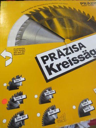 Präzisa Kreissägeblatt Durchmesser 250mm Stärke 2,2mm Bohrung 20mm Typ W