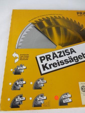 Präzisa Kreissägeblatt Type B 250mm 1,6mm 20/15,8mm 80B HM Sägeblatt