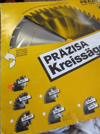 Präzisa Kreissägeblatt Durchmesser 250mm Stärke 2,2mm Flachzahn 24 Typ F