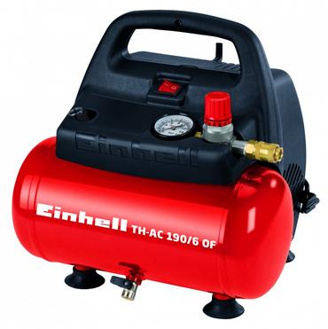 Einhell 4020495 TC-AC 190/6/8 Kompressor 6L Mobiler-Kessel Ölfreier Motor 1100W