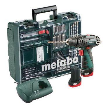 Metabo 600385870 PowerMaxx SB Basic Set Akku-Schlagbohrmaschine