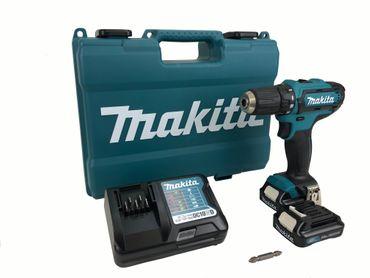 Makita DF331DWAE Akku-Bohrschrauber 10,8V 2x 2Ah Softgriff Überlastschutz LED