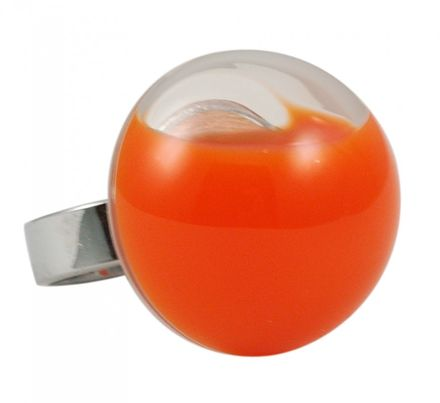 Pylones Ring - Dome milk, orange