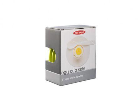Mepal Eierbecher-Set schwarz-weiß, 8-teilig