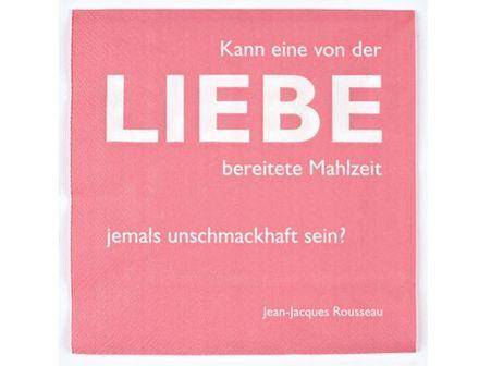 Cedon Papierservietten - Liebe, Jean-Jacques Rousseau - 20 Stück