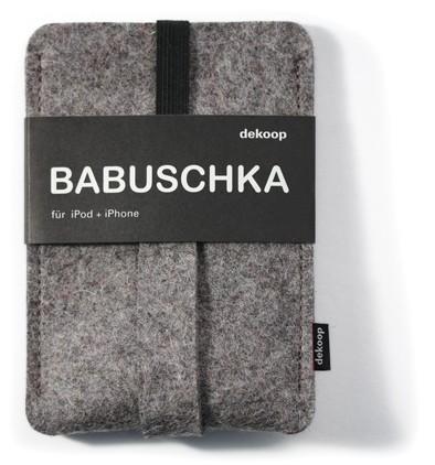 dekoop Handyhülle - Babuschka groß - hellgrau