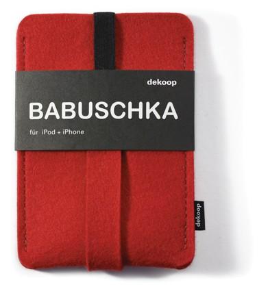 dekoop Handyhülle - Babuschka groß - rot