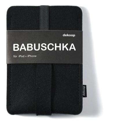 dekoop Handyhülle - Babuschka groß - anthrazit
