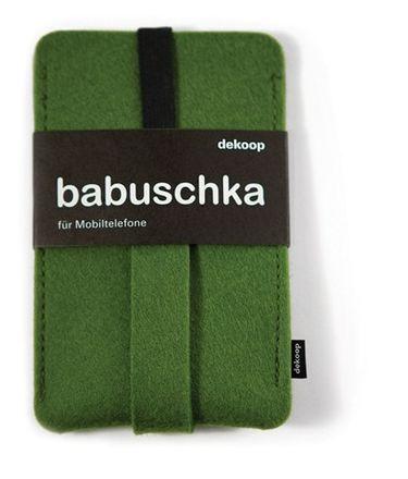 dekoop Handyhülle - Babuschka klein - dunkelgrün