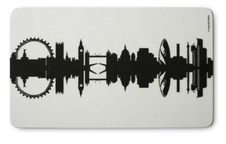 44spaces Frühstücksbrettchen - London Skyline
