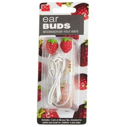 Kopfhörer-Set - Earbuds, Erdbeeren