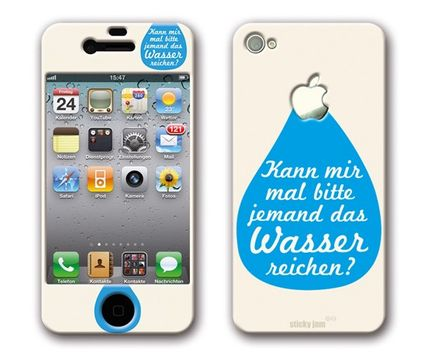 sticky jam iPhone-Sticker - Sticky Skin, Wasser