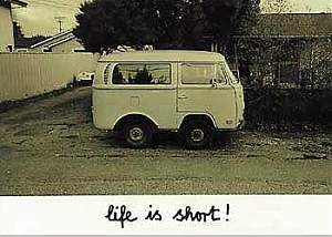 Postkarte - Life is short