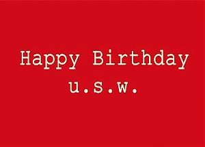 Postkarte - Happy Birthday u.s.w.