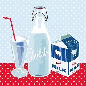 Avantgarde Papierservietten - Milk, 20 Stück