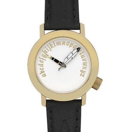 Akteo Damen-Armbanduhr Schriftstellerin gold