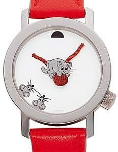 Akteo Armbanduhr - Kätzchen rot