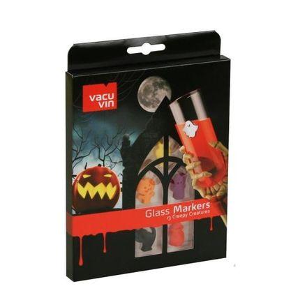 Vacu Vin Glas-Marker-Set - Creepy Creatures, 13-teilig