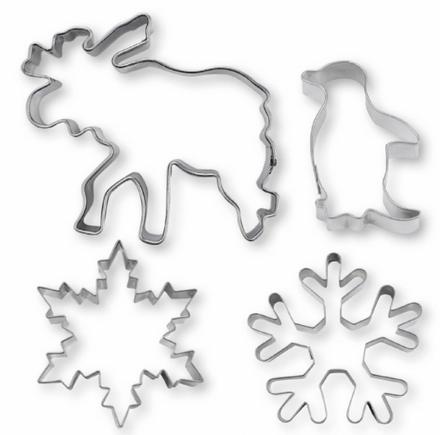 Städter Ausstechformen-Set - Winterwunderland, 4-teilig