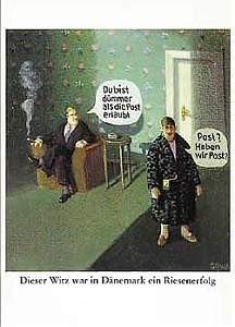 Postkarte - Dieser Witz war in Dänemark ...