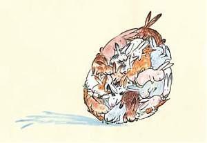 Postkarte - Easter rabbits