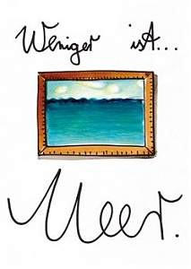Postkarte - Weniger ist Meer
