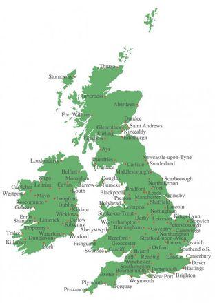 Stick-Postkarte - Stitching Postcard Großbritannien