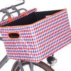 Bikecap Fahrradkorb-Abdeckung - Boxcap de Luxe - rot-weiß-blau kariert