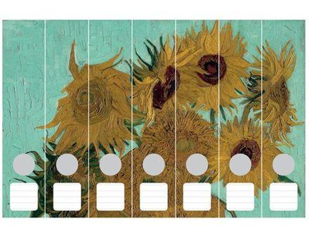 Cedon Ordnerrücken-Set - Sonnenblumen, van Goch, 7-teilig