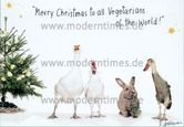 Postkarte - Merry Christmas to all Vegetarians