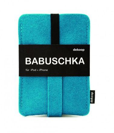dekoop Handyhülle - Babuschka groß - petrol