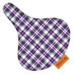 BikeCap Sattelschoner - Purple plaid