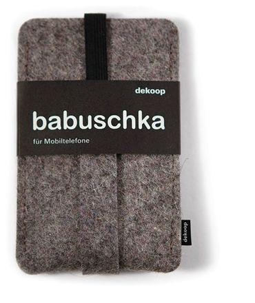 dekoop Handyhülle - Babuschka klein - naturmeliert